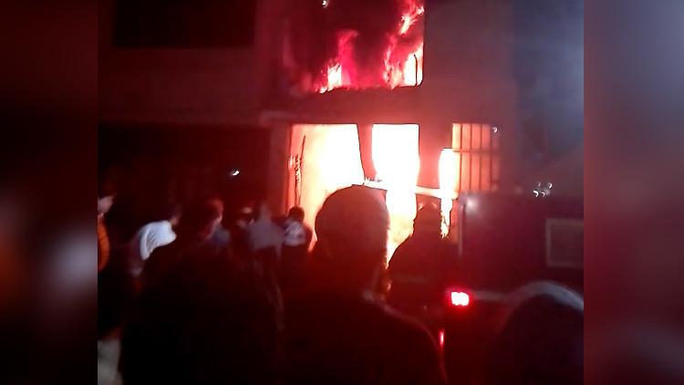 Siete personas fallecen tras incendio de edificio en Perú