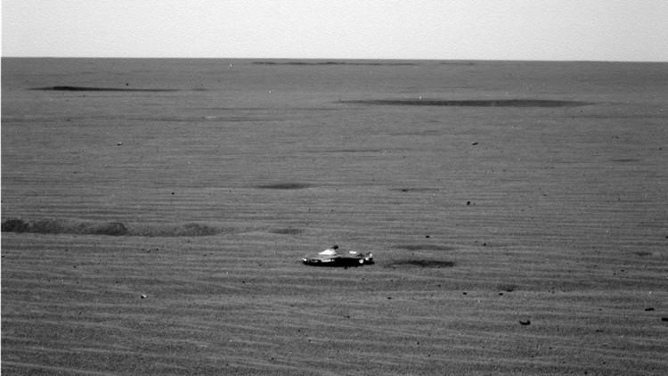 """""""Se parece al Batimóvil"""": Usuarios especulan sobre un 'ovni' visto en Marte"""
