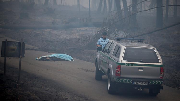 Portugal espera refuerzos de países tras incendio forestal
