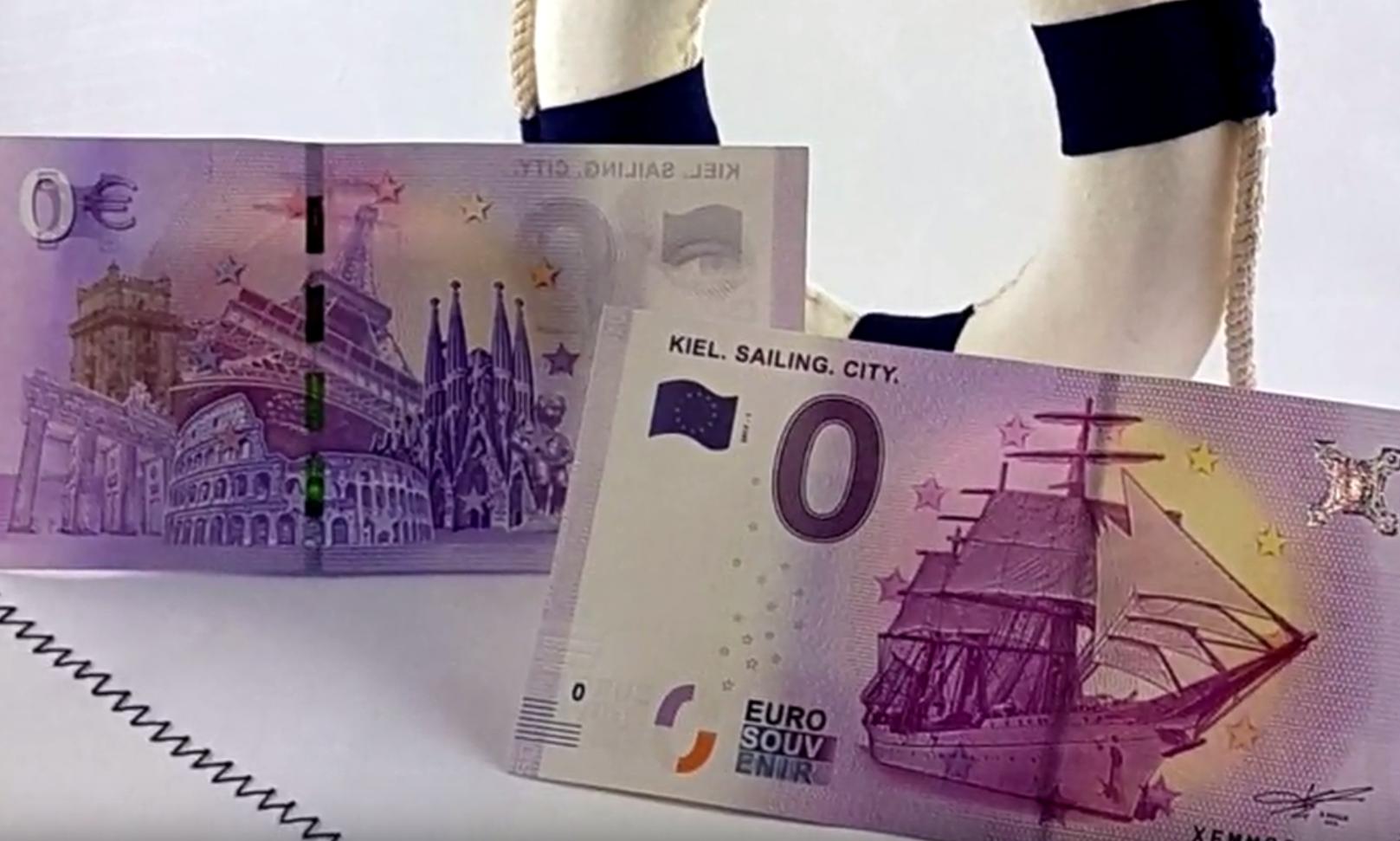 Imprimen en Alemania un billete de cero euros