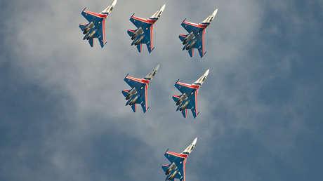 El grupo de pilotaje 'Russkie Vítiazi'
