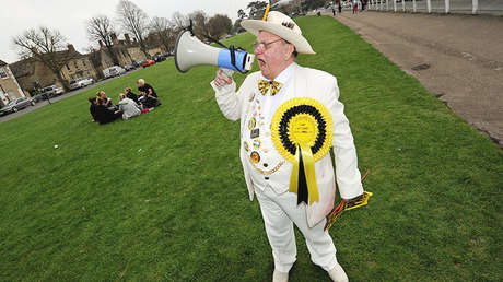 Alan 'Howling Laud' Hope, líder del Monster Raving Loony Party.