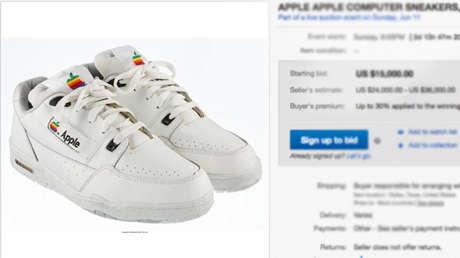 Médula ósea Mojado lechuga  Ni son Reebok, ni son Nike': Subastan zapatillas Apple por un precio  inicial de 15.000 dólares - RT