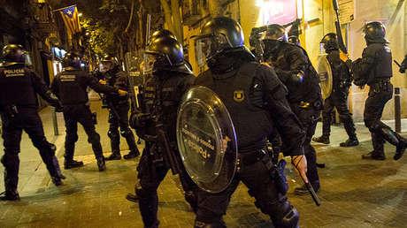Los Mossos d'Esquadra en las calles de Barcelona