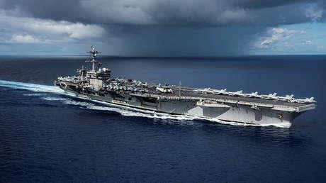 El portaaviones USS Carl Vinson de EE.UU.