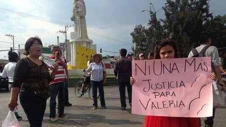 Niños y vecinos se manifiestan en las calles de 'Neza' por femincidio de la pequeña Valeria.