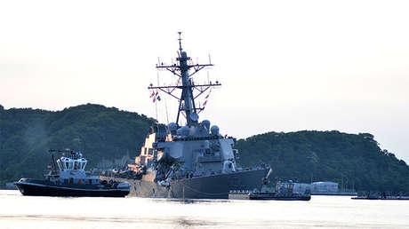El destructor de EE.UU. USS Fitzgerald