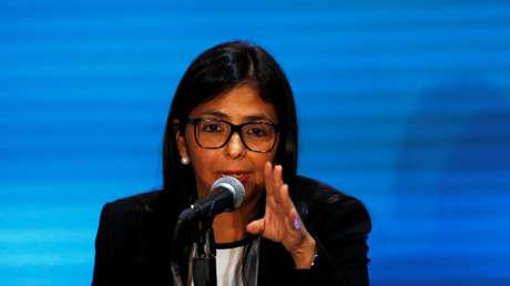 Canciller venezolana, Delcy Rodríguez