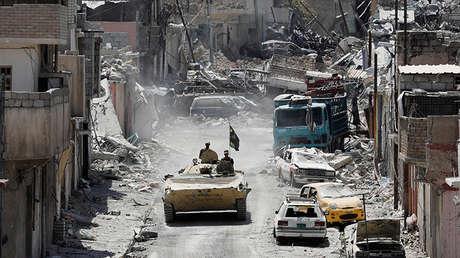 Una de las calles de Mosul