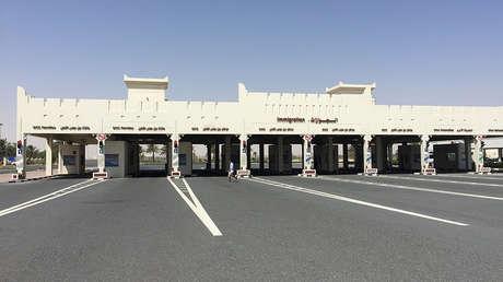 La frontera entre Catar y Arabia Saudita en Abu Samra