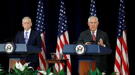 El secretario de Defensa, James Mattis, y el secretario de Estado, Rex Tillerson