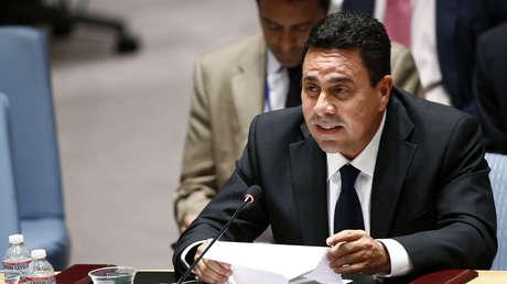 Samuel Moncada en la sede de Naciones Unidas, julio de 2014.