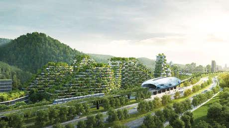 El proyecto de ciudad bosque en Liuzhou, región autónoma Guangxi, China