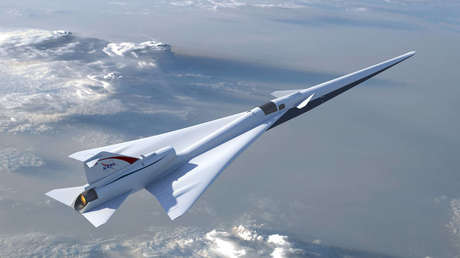 Ilustración de la aeronave experimental supersónica silenciosa LBFD (Low Boom Flight Demonstration).