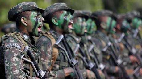 Soldados del Ejército de Brasil, 18 de enero de 2017.