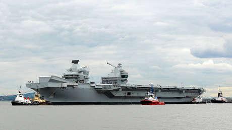 El portaviones HMS Queen Elizabeth en Escocia, el 26 de junio de 2017.
