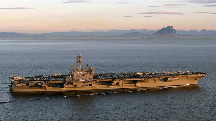 Trump envía su gran portaviones USS George H.W. Bush a las costas de Israel