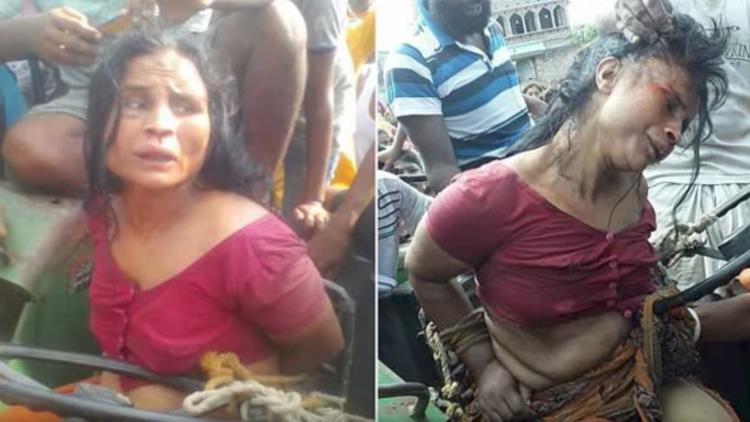 Video escalofriante: Desnudan, afeitan y linchan a una mujer con problemas mentales en India
