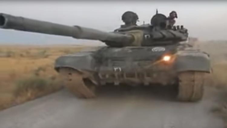 VIDEO: Los tanques sirios T-72B3 utilizan por primera vez misiles guiados