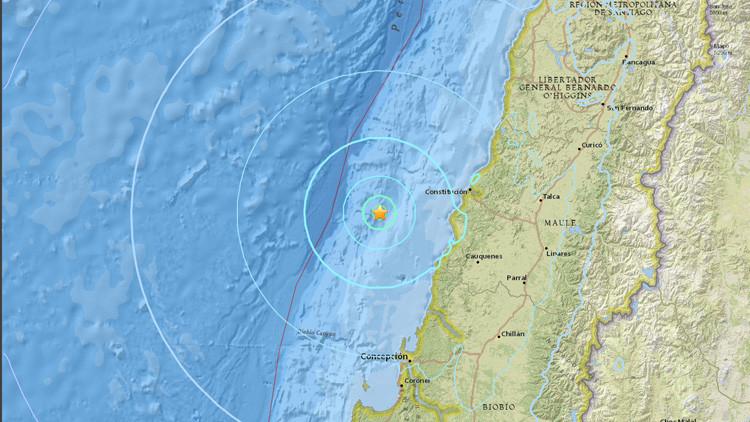 Un sismo de magnitud 5,9 se registra en Chile