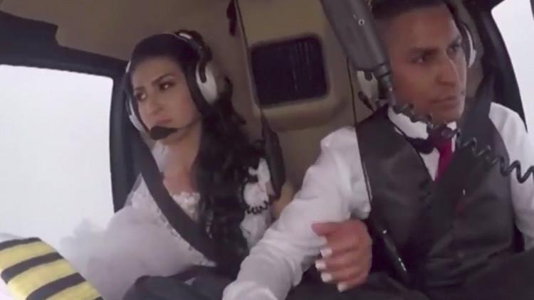 Así fue el trágico accidente de un helicóptero que llevaba a una novia a su boda (Video)