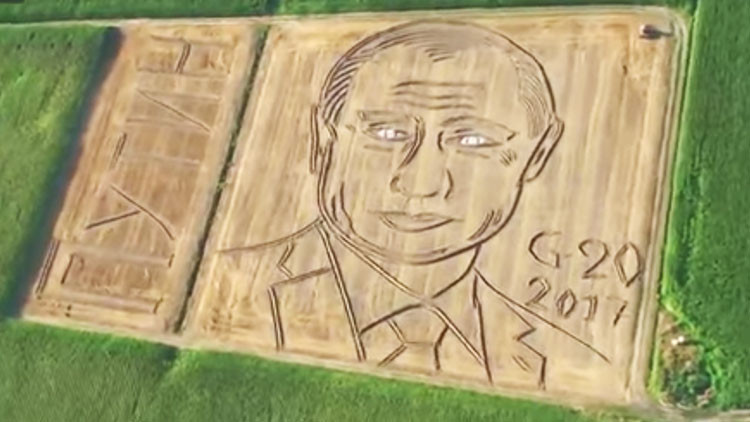 Un agricultor italiano explica por qué retrató a Putin en un campo de trigo (VIDEO)