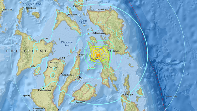 Un fuerte sismo de magnitud 6,5 sacude Filipinas
