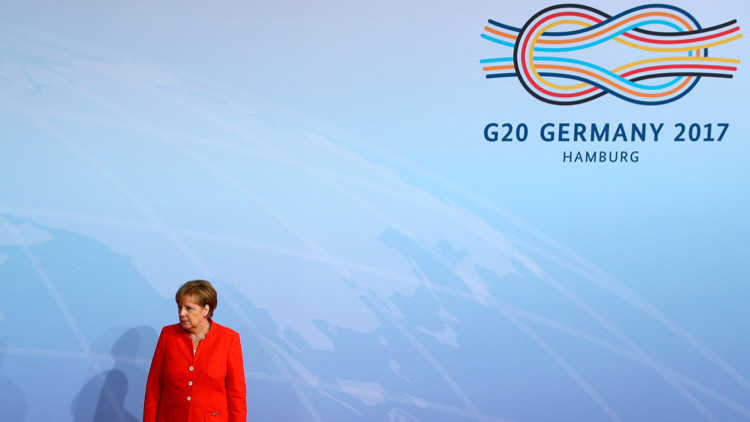 Merkel explica por qué se eligió la imagen de un nudo marinero como símbolo del G20