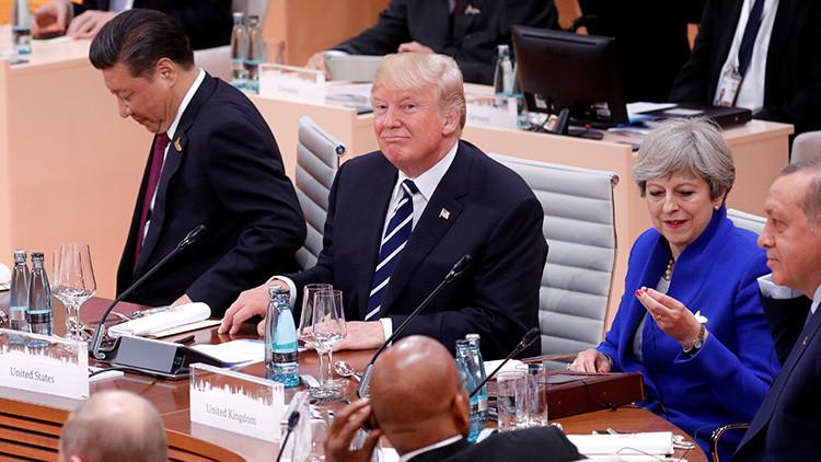 ¿A quién le tira besitos Trump durante la cumbre del G20? (VIDEO)