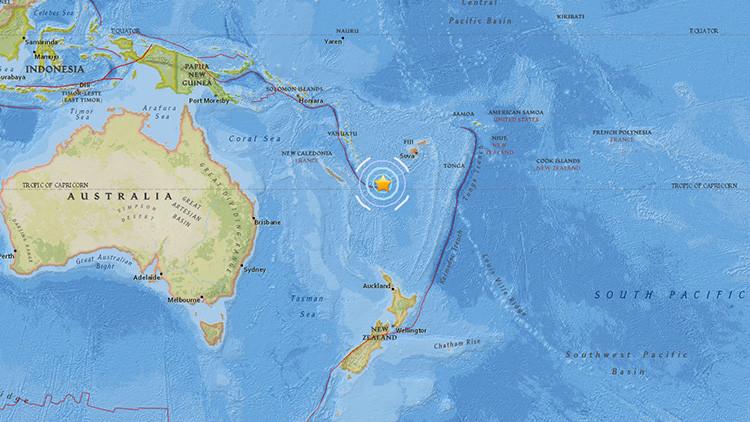 Terremoto de 5,6 en el sudoeste del Pacífico