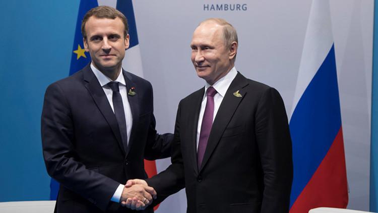"""Macron a Putin: """"Podemos pasar a una nueva fase en las relaciones ruso-francesas"""""""