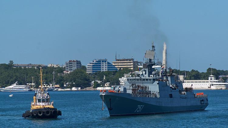 La fragata rusa Admiral Essen se dirige a las costas de Siria (VIDEO)