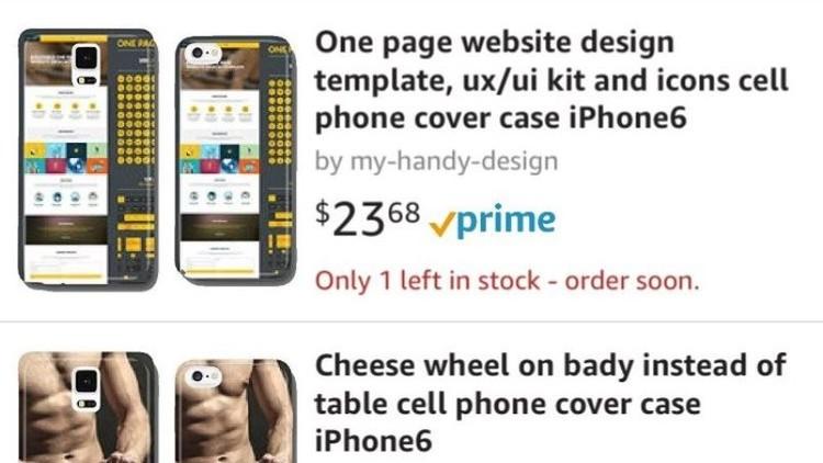 Juguetes sexuales, drogas y jamón: Las fundas para móviles que vende un 'bot' enloquecido de Amazon