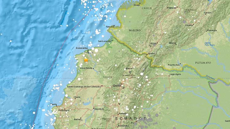 Se registra un terremoto de magnitud 5,3 en Ecuador