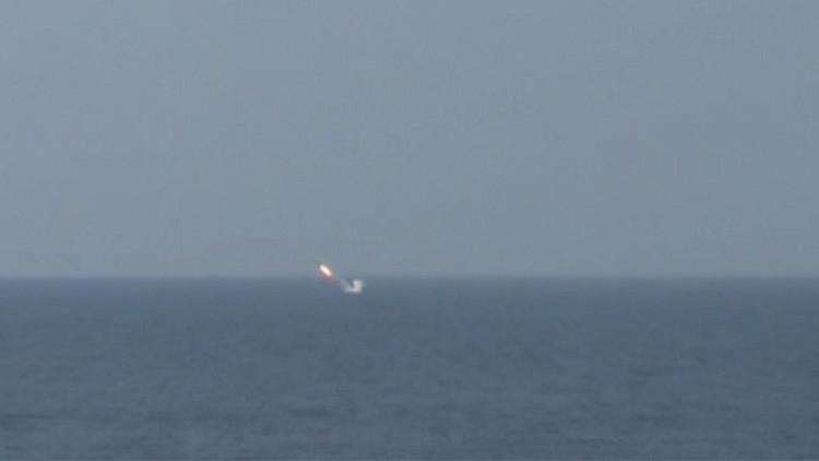 El submarino nuclear ruso Tomsk lanza con éxito un misil de crucero