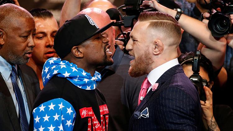"""""""Puedes escoger cómo perderás"""": Duelo verbal Mayweather-McGregor se convierte en un auténtico 'show'"""