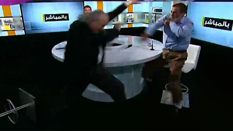 VIDEO: Un debate televisivo sobre una decapitación del EI termina con una fuerte pelea en directo