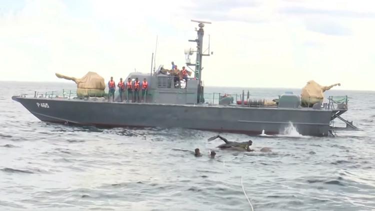 VIDEO: El largo y milagroso rescate de un elefante en alta mar por la Armada de Sri Lanka