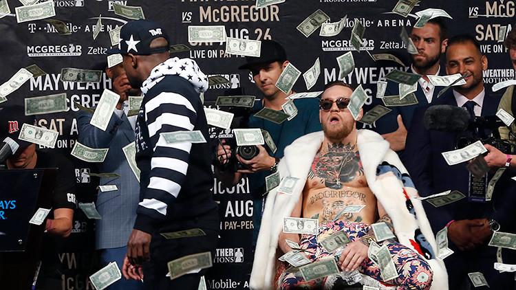 Insultos racistas y provocaciones: Mayweather y McGregor calientan la 'pelea del dinero' (VIDEO)