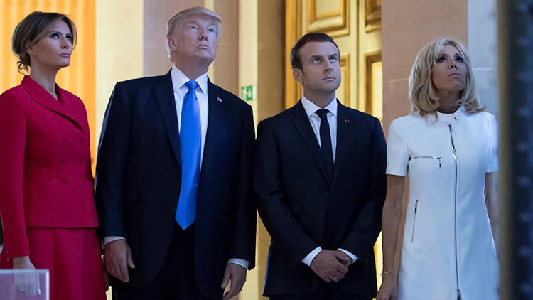 """""""¡Qué hermosa!"""": Donald Trump 'piropea' a la esposa de Emmanuel Macron ante Melania (VIDEO)"""