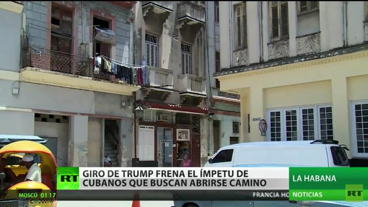 El giro de Trump frena el ímpetu de los cubanos que buscan abrirse camino
