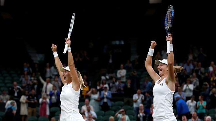 Las rusas Makárova y Vesniná ganan la final de dobles de Wimbledon dejando a sus rivales a cero