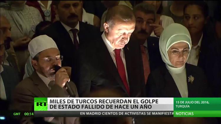 Turquía conmemora el aniversario del fallido golpe de Estado