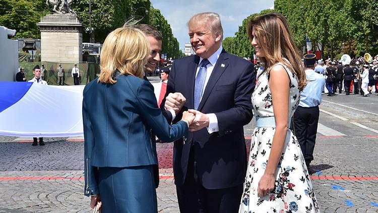 Reebok se burla del 'piropo' de Trump a Brigitte Macron