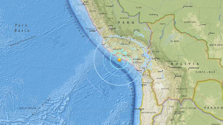 Un fuerte sismo sacude las costas del sur de Perú