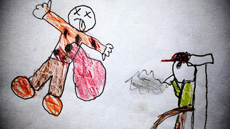 Coloreando el horror: los dibujos de niños de Guatemala que reflejan la violencia que viven