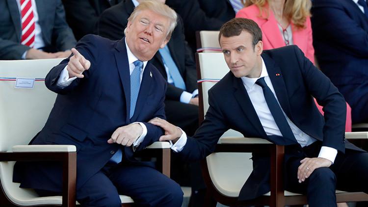 """Trump sobre Macron: """"Le encanta agarrar mi mano"""""""