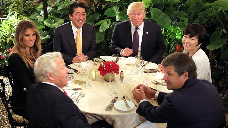La esposa de Shinzo Abe fingió no hablar inglés ante Donald Trump