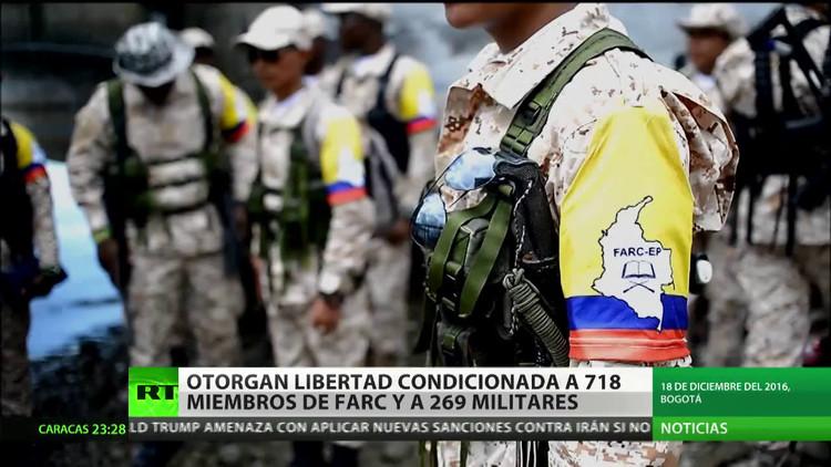 Colombia: Otorgan libertad condicionada a 718 miembros de las FARC y a 269 militantes