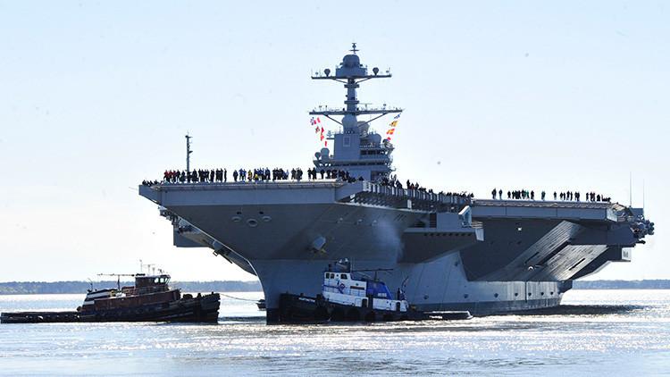 """""""Nuestra victoria será total"""": Trump pone en marcha su portaaviones más problemático"""